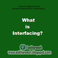 What is Interfacing?, askhareesh blog for Oracle Apps