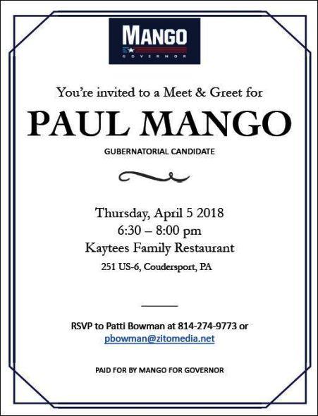 4-5 Meet Paul Mango, Coudersport