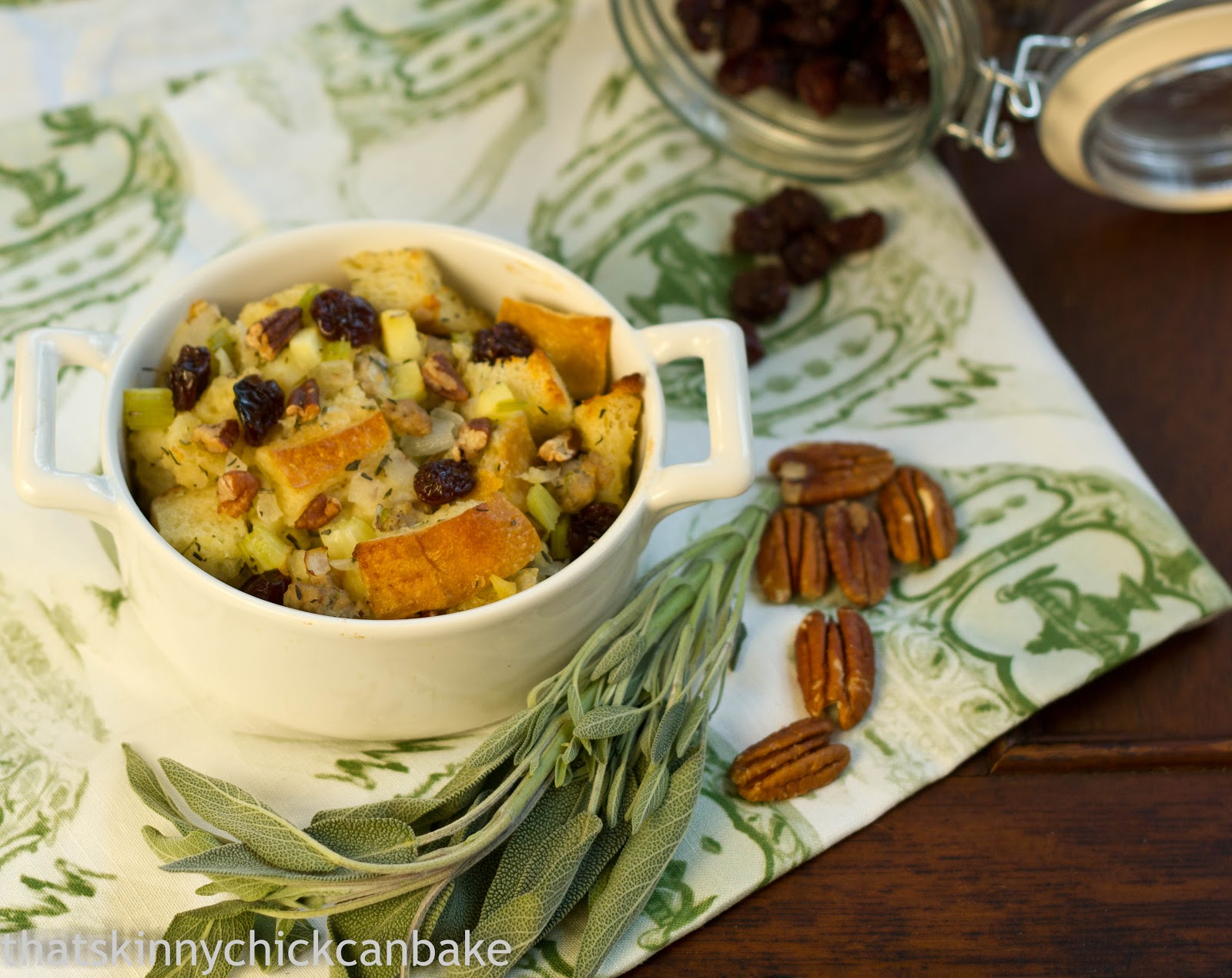 Sausage, Dried Cherry and Pecan Stuffing...Crazy Cooking Challenge ...