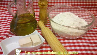 Receta de masa de aceite coca de aceite y sal