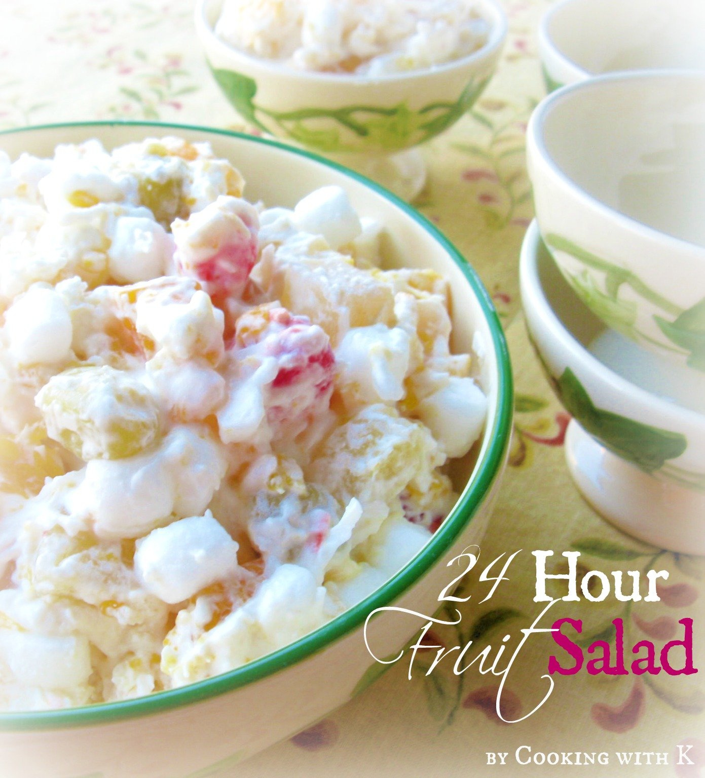 Hour fruit salad the ambrosia recipe of the south granny s recipe