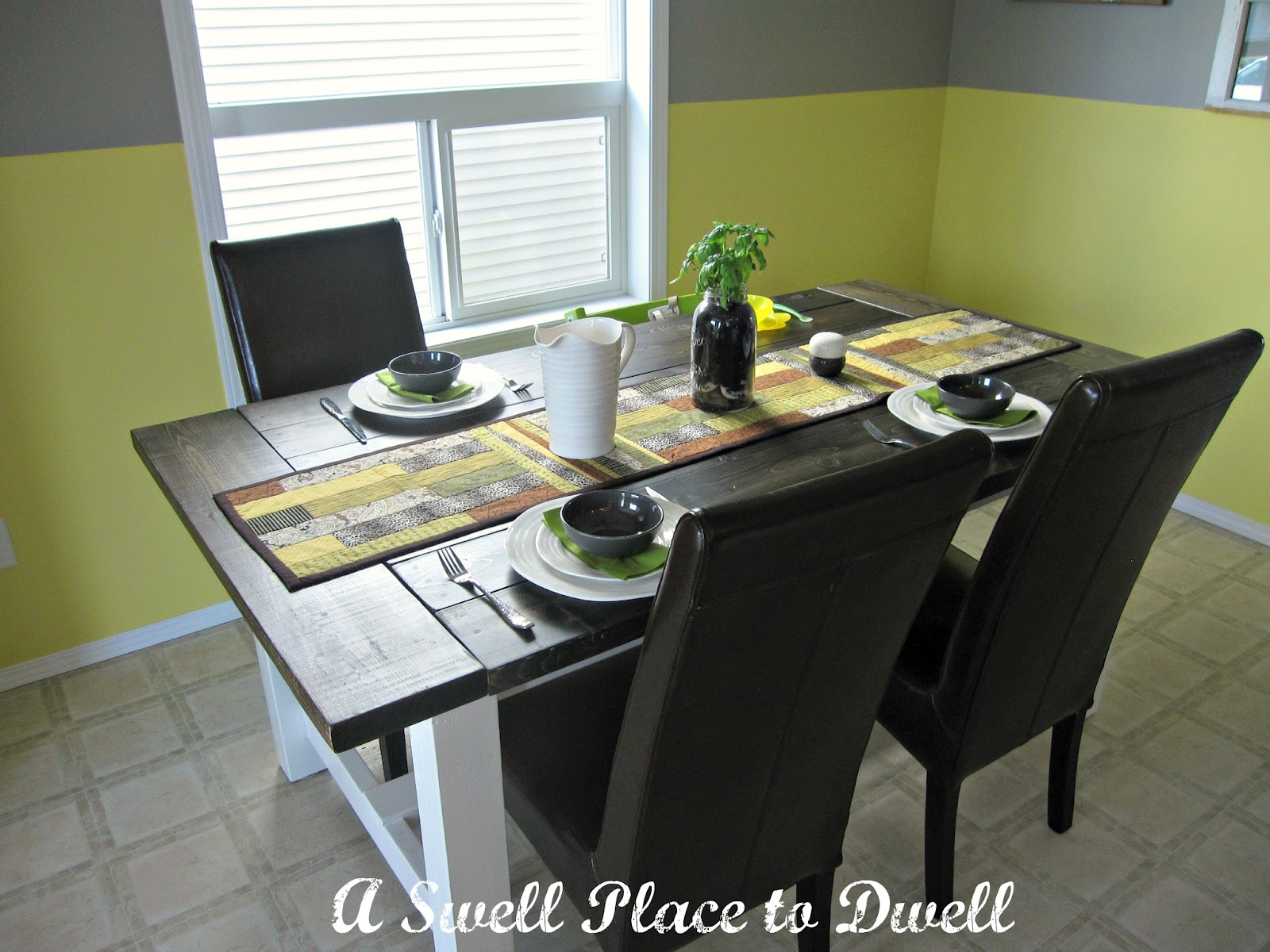 A Swell Place to Dwell: DIY Farmhouse Table