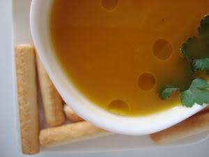 Sopa de zapallo estilo Tahi