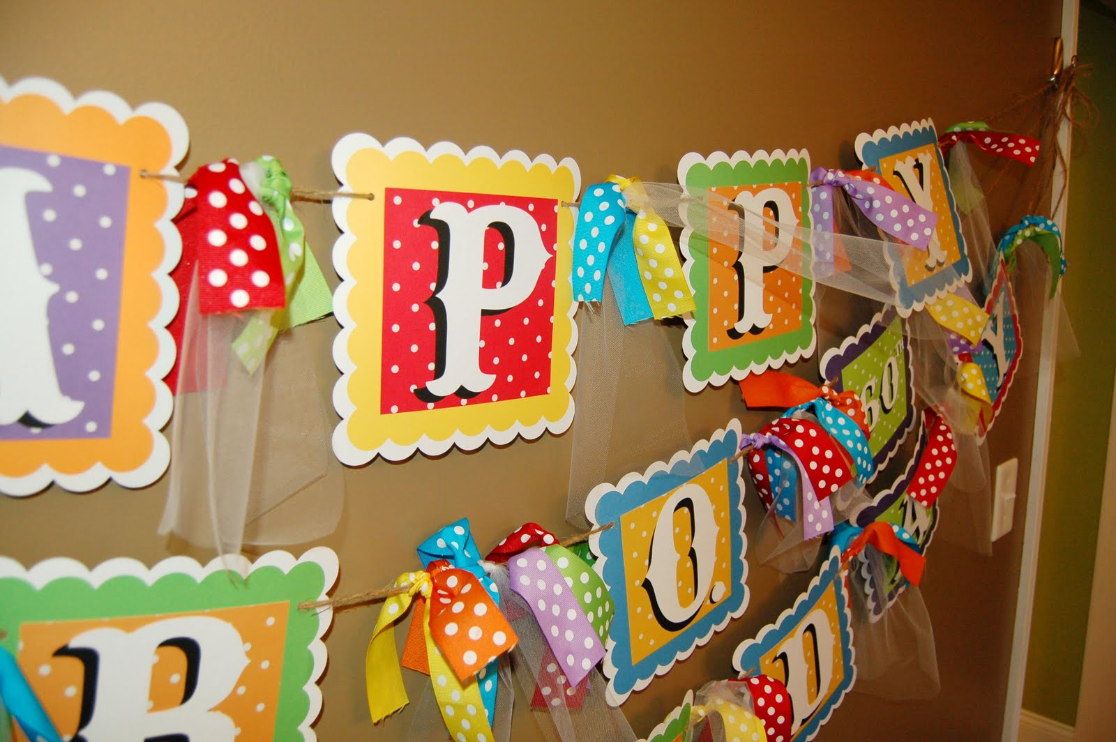 Alabama Slacker Mama: Colorful Birthday Party Banner