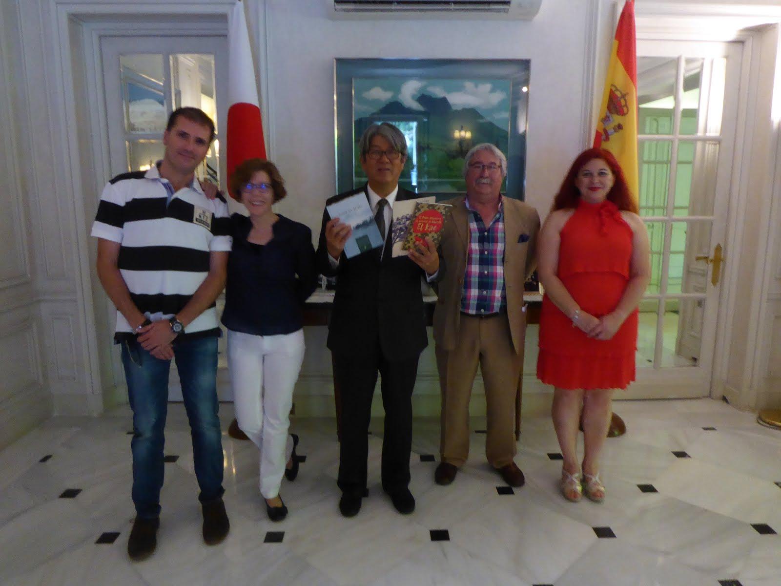 Gente de AGHA en la Embajada de Japón (Madrid 2018)