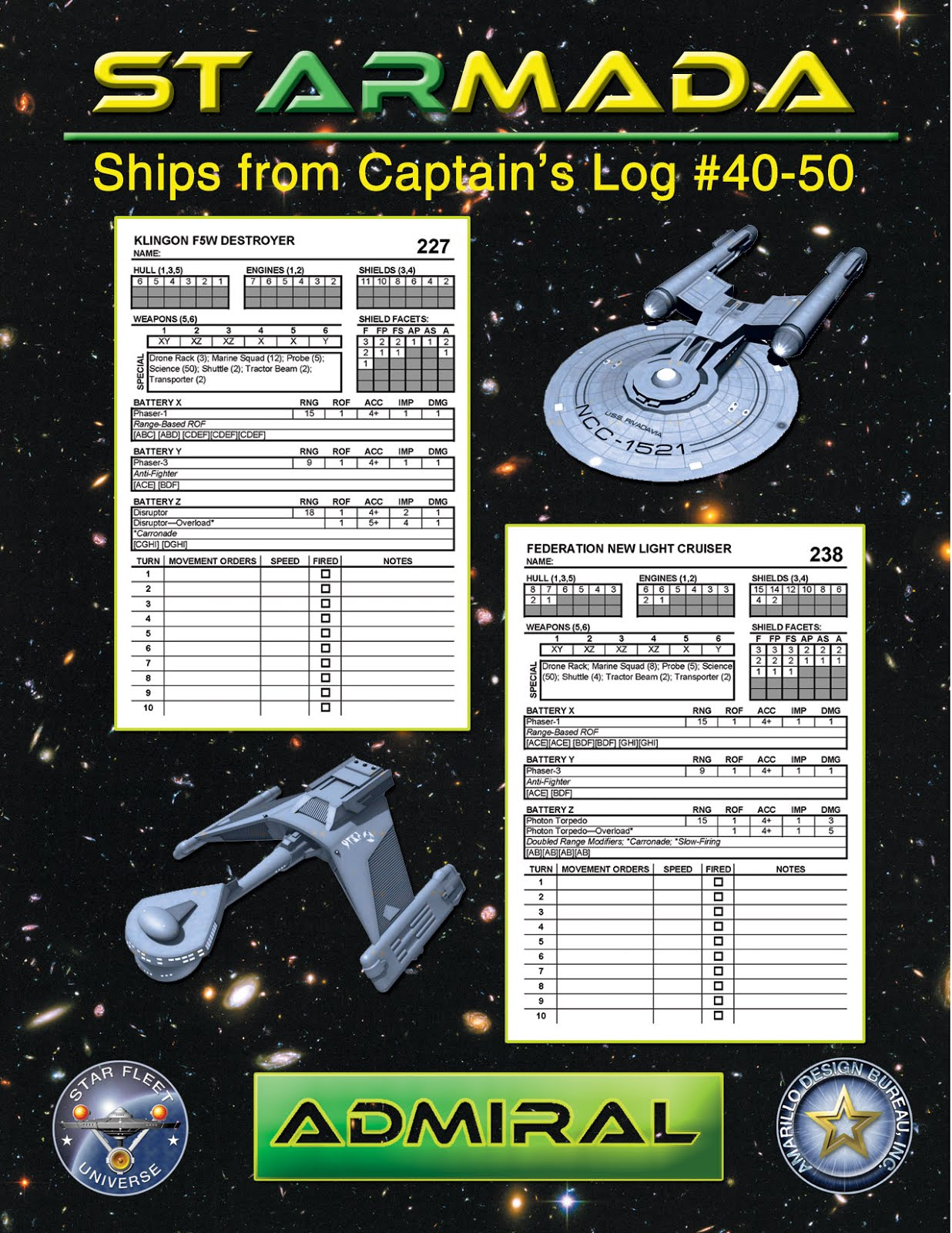 Federation commander june 2016 those are only available as ebooks compilation products from captains log such as the scenario log for federation commander and the compendiums for fandeluxe Images