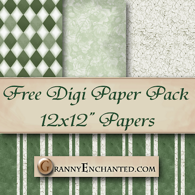 Free French Crackle Digi Scrapook Paper Pack