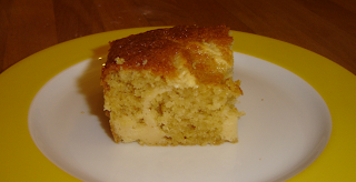 Orangen 'Brownies' mit Cheesecake - Topping