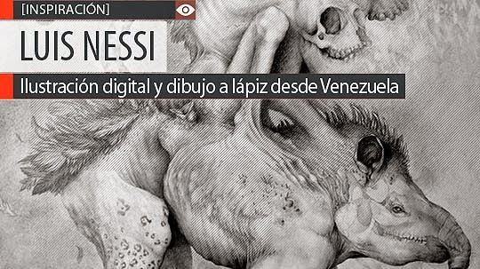 Ilustración digital y dibujo a lápiz de LUIS NESSI