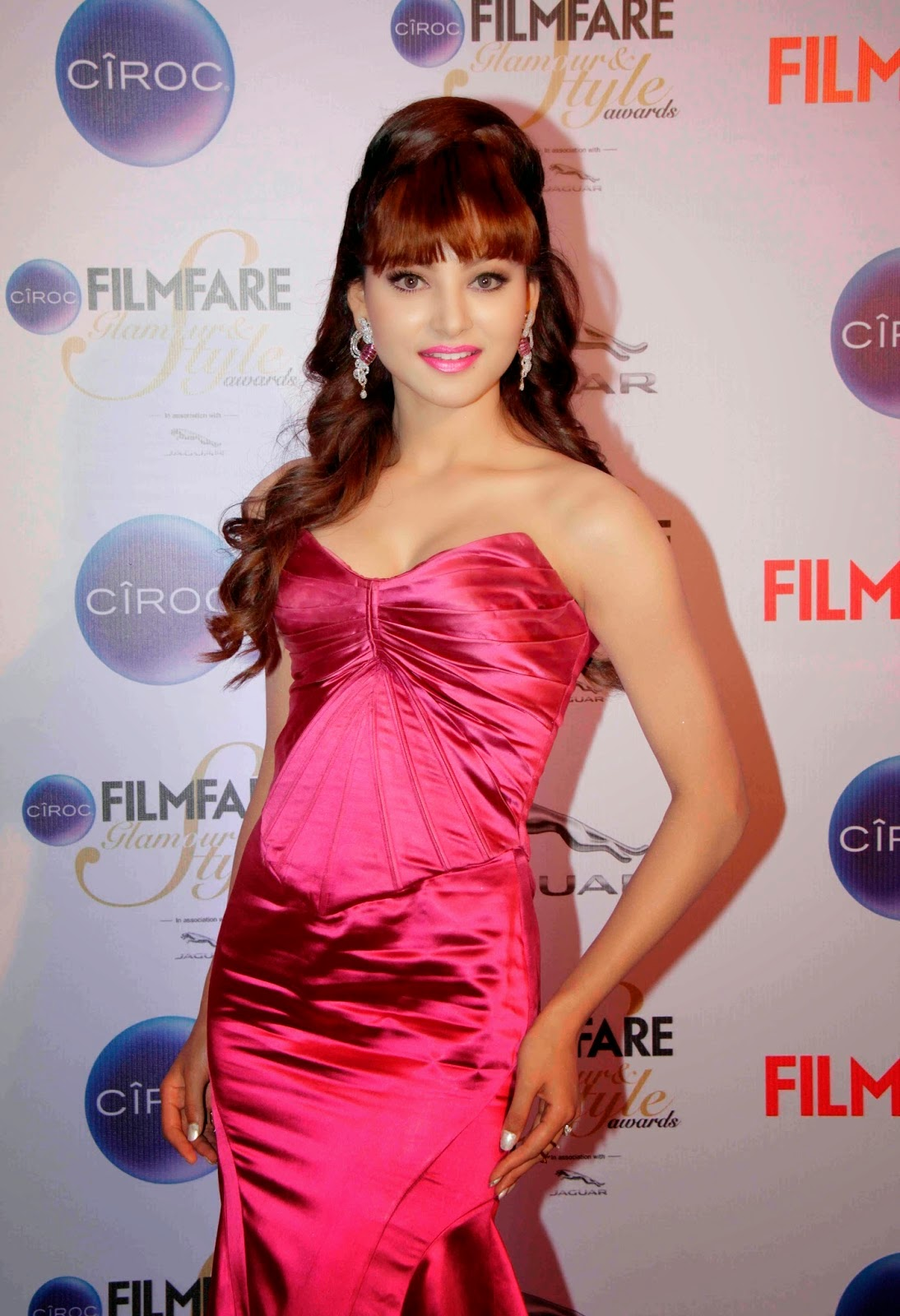 Urvashi Rautela Latest Photos in Red Long Dress at Ciroc Filmfare Glamour Style Awards