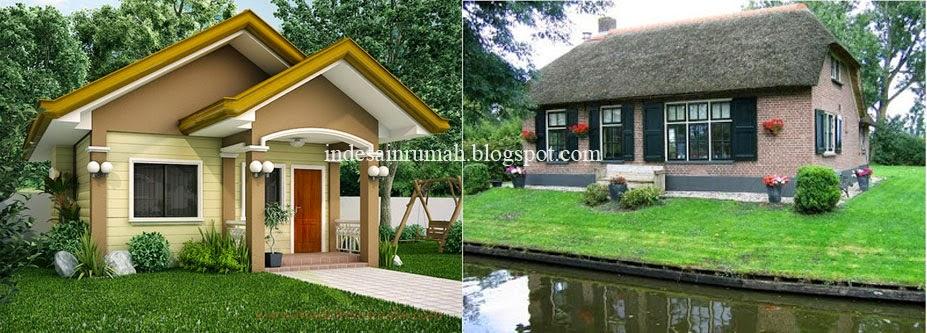 desain rumah sederhana asri simpel super green