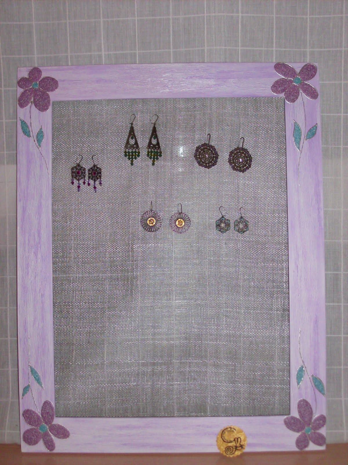 El taller de gretel cuadro para colgar tus pendientes - Para colgar pendientes ...