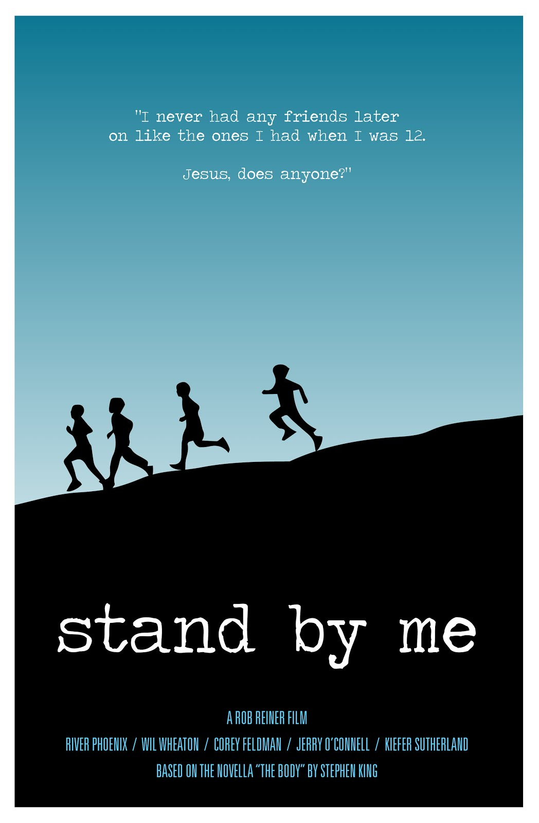 "stand by me essay In the film ""stand by me"" by rob reiner, chris chambers inspired an important idea of the importance of justice, which may seem hard to."