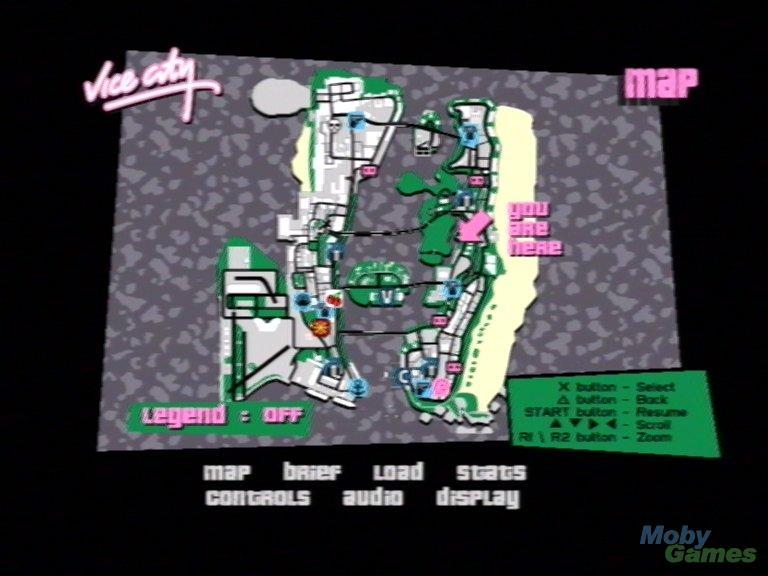 GTA Vice City GTA Vice City Map