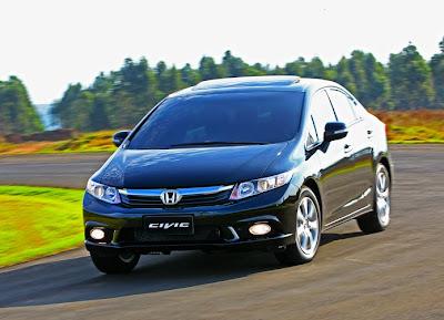 sedã de luxo,O imponente sedã de luxo Honda New Civic 2013