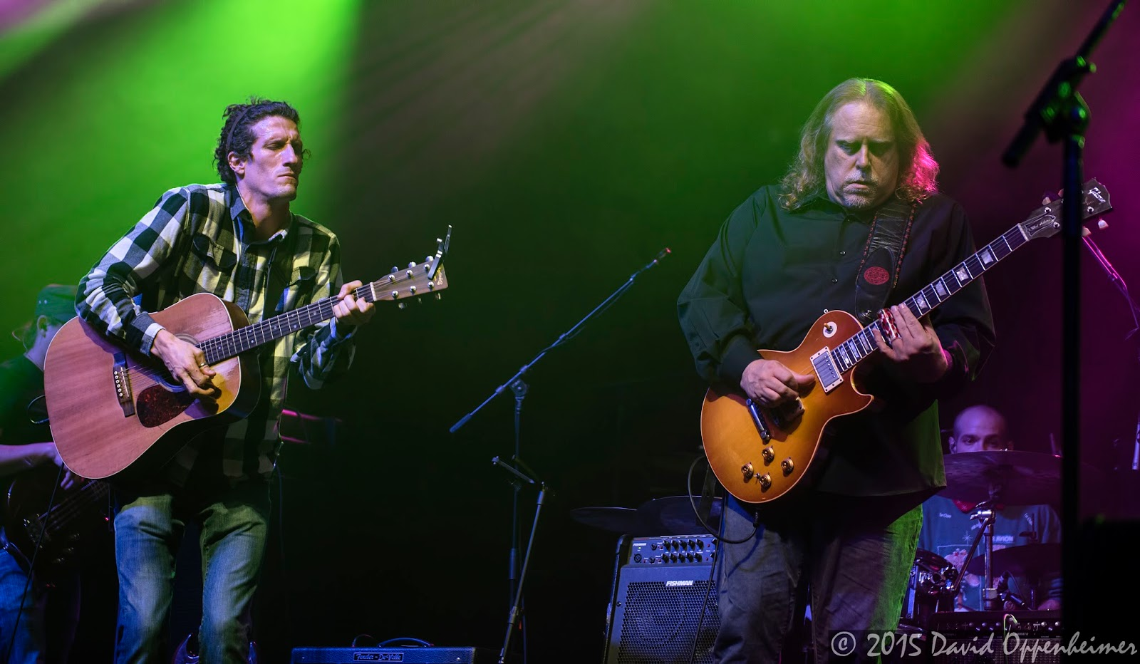 Warren Haynes and David Shaw performing with The Revivalists
