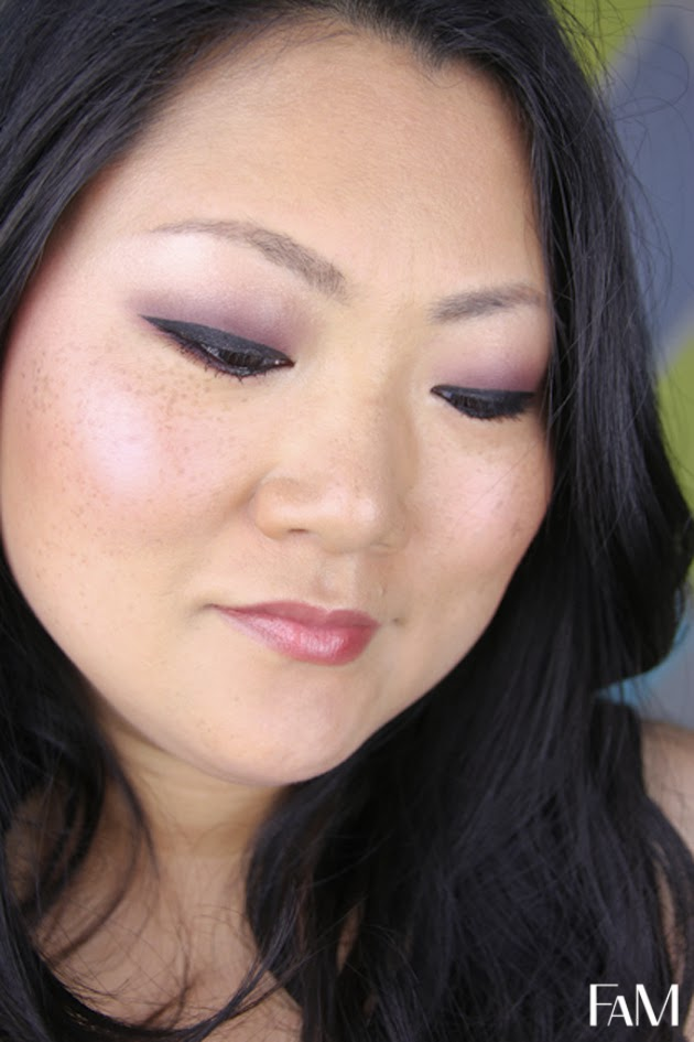 Fall Makeup look mac cranberry and blackberry eyeshadows on asian monolid eyes