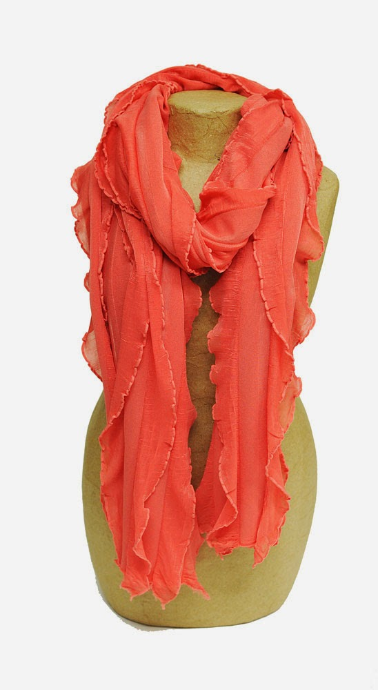 Make 4 ruffle scarves with 1 yard of ruffle fabric