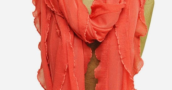 ruffle scarves how to make