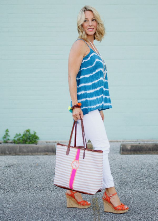 Spring/summer fashion - Barrington Monogram Stripe Bag