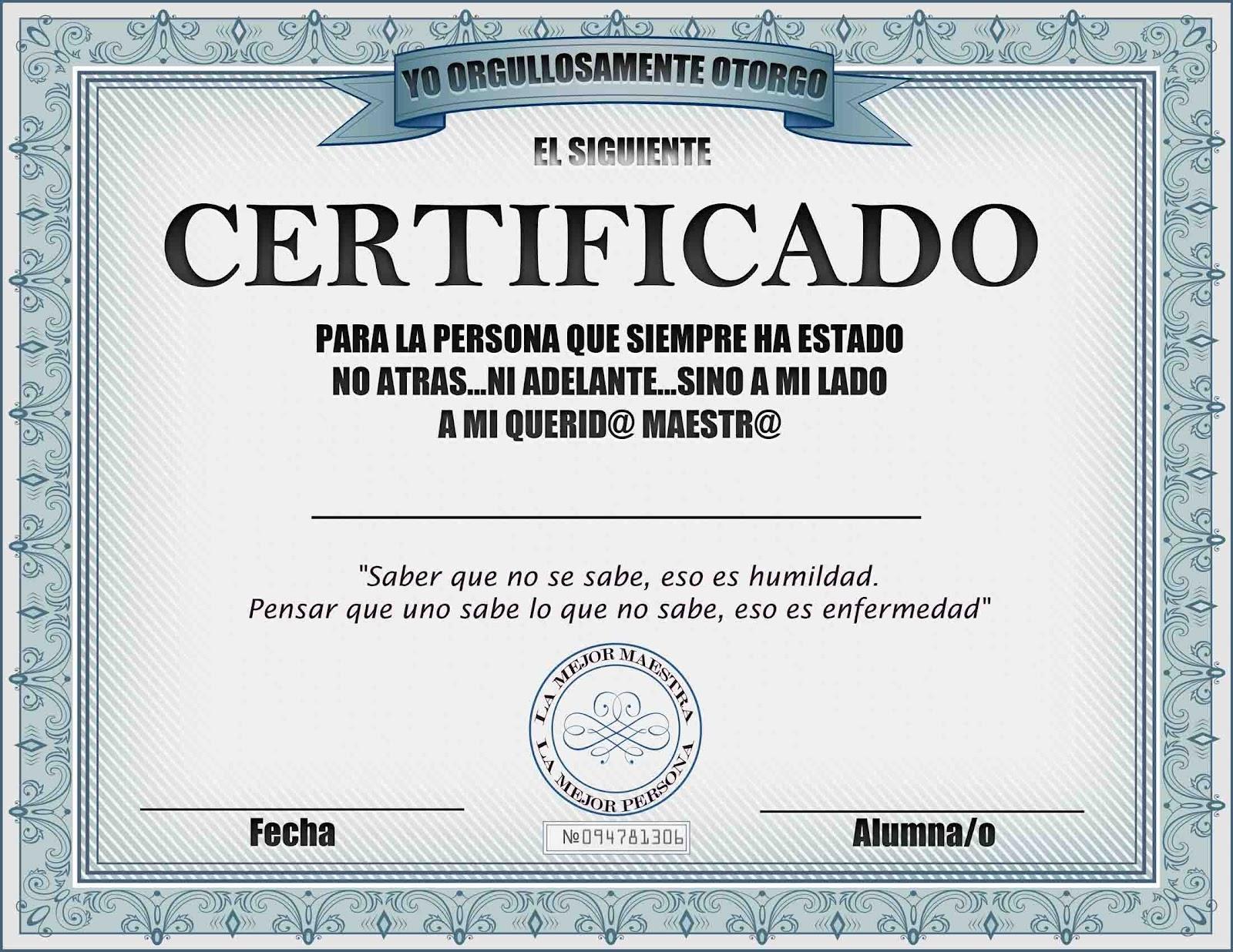 Diploma Para Maestra