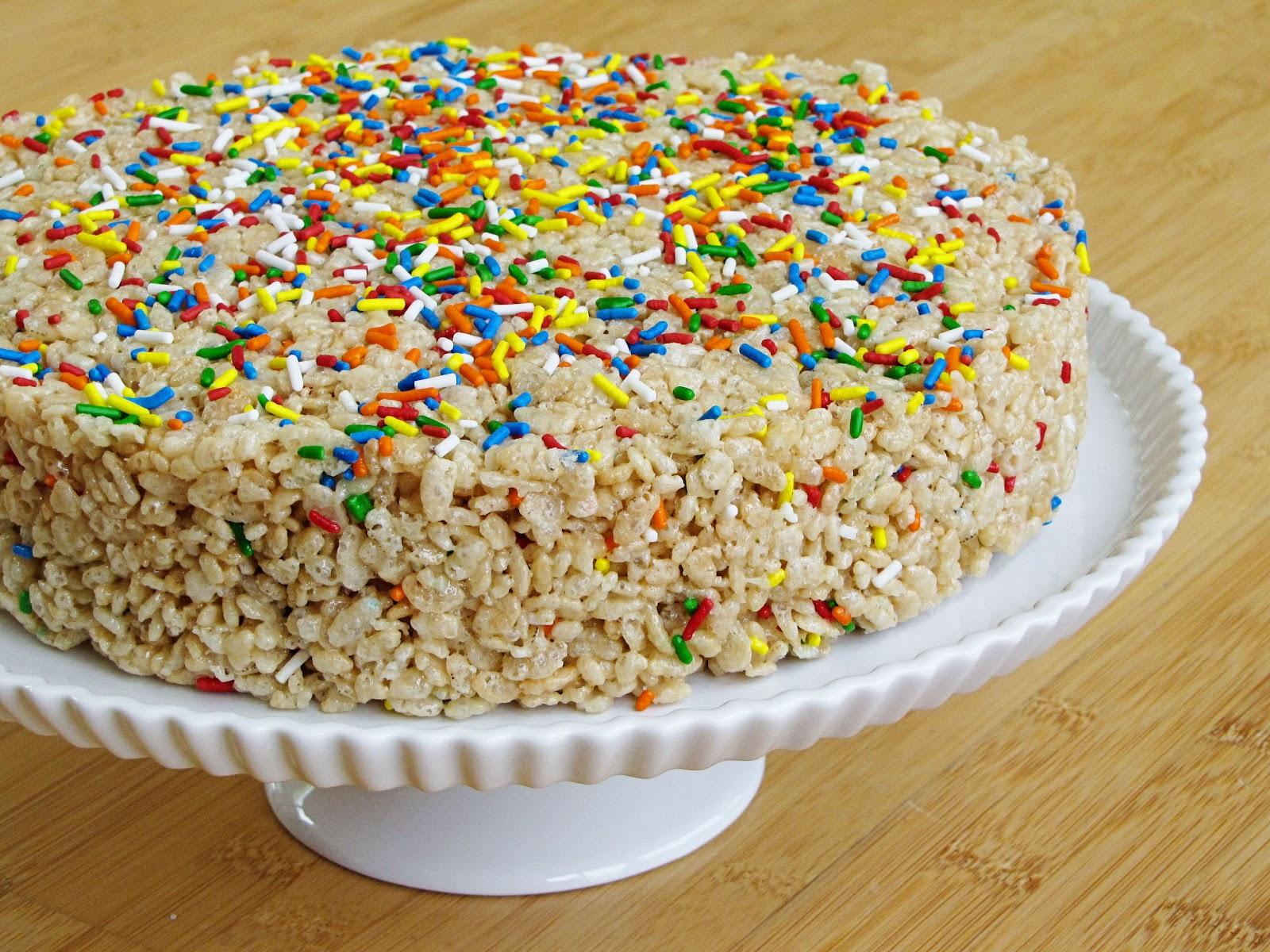 cake batter rice krispie treats | Sweet Anna's