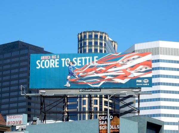 America score to settle Womens soccer Fox Sports billboard
