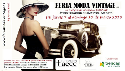 FERIA MODA VINTAGE MADRID DEL 7 A 10 DE MARZO 2013