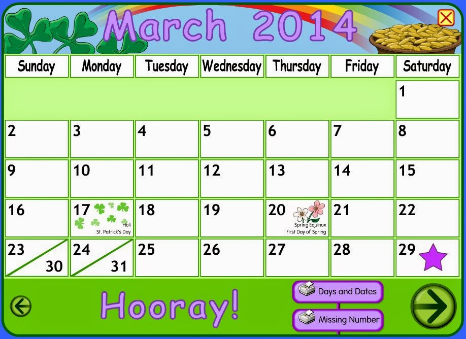 english corner time make a calendar