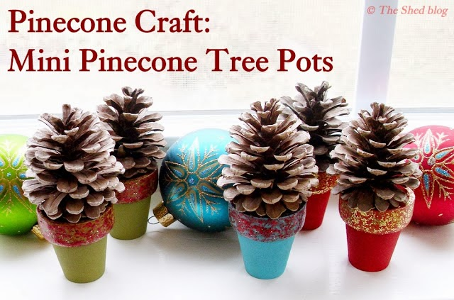 Lilacsndreams pinecone christmas tree decoration ornament for Pine cone tree decorations