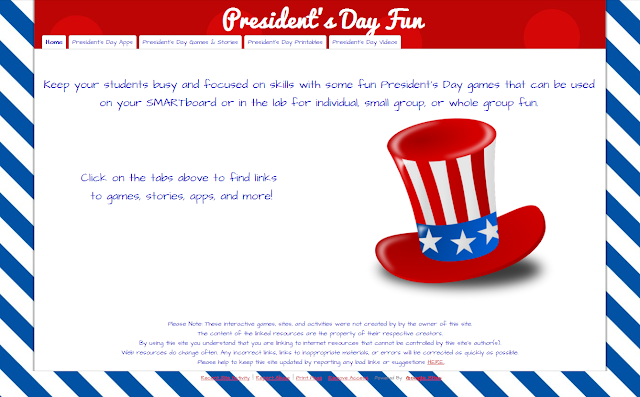technology rocks  seriously   President s Day Sites  Games  Apps