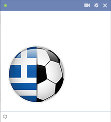 Greece flag football emoticon