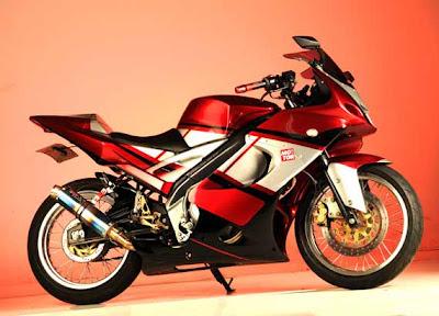 Modifikasi Vixion 2012 racing warna merah
