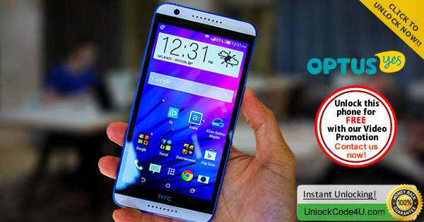 Factory Unlock Code HTC Desire 820 from Optus Yes