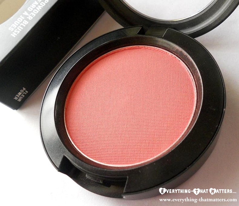 MAC Fleur Power Blush Swatch And review