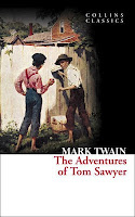 Collins Classics book cover of the Adventures of Tom Sawyer by Mark Twain