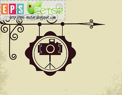 [Vector] - Antique street sign of photo store