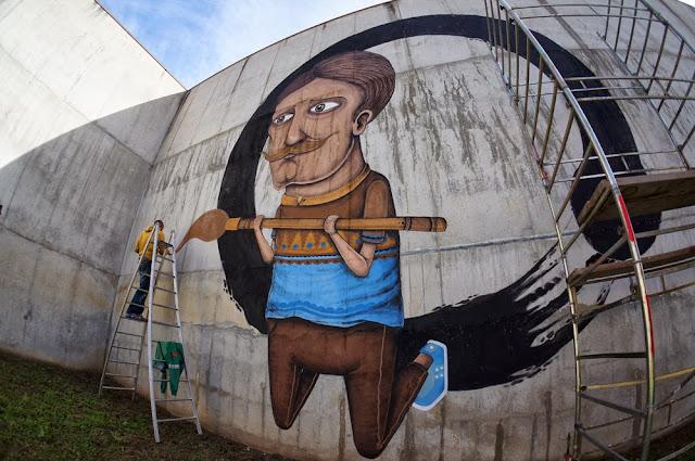 Street Art By Italian Urban Artist SeaCreative Inside an Ex-Prison in Tirano, Italy. 2
