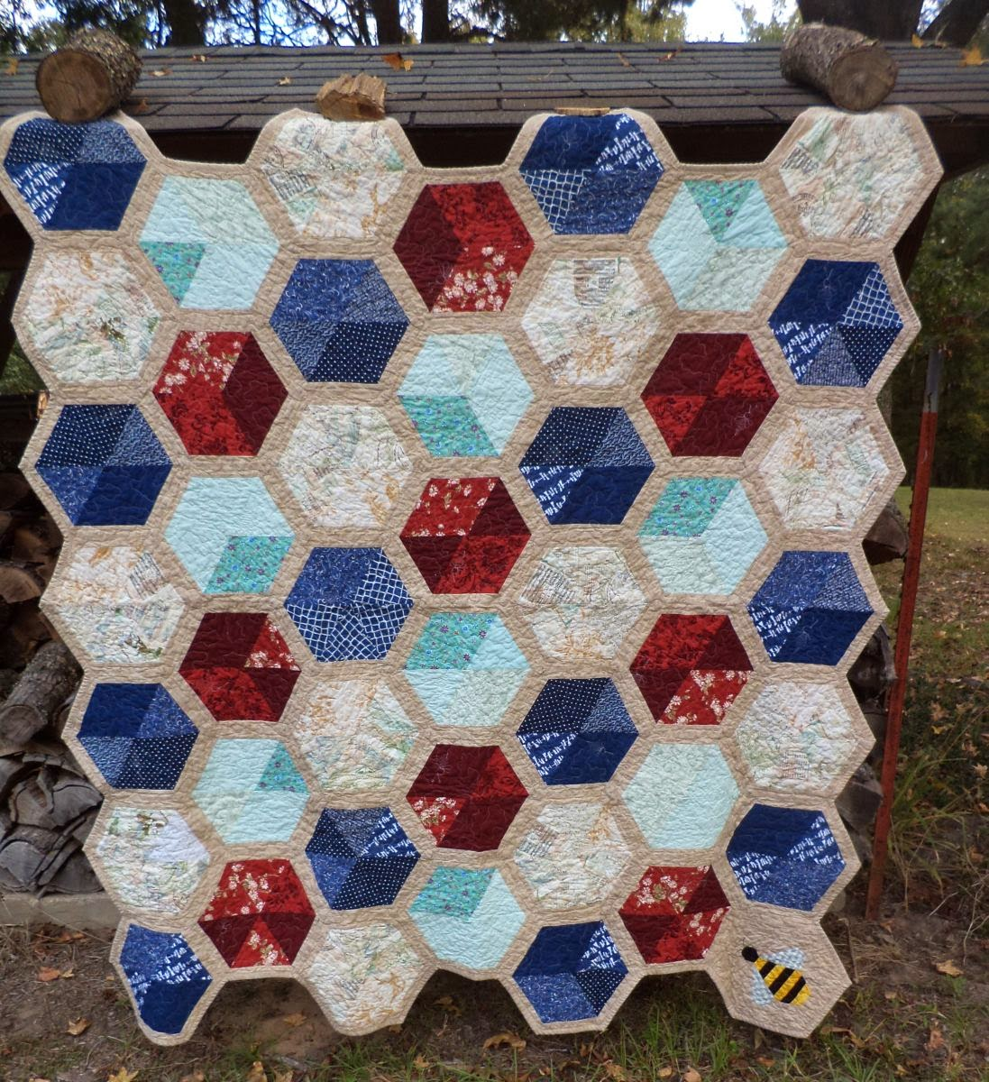 Kat & Cat Quilts: Honeycomb of Hexagons : honeycomb quilt - Adamdwight.com