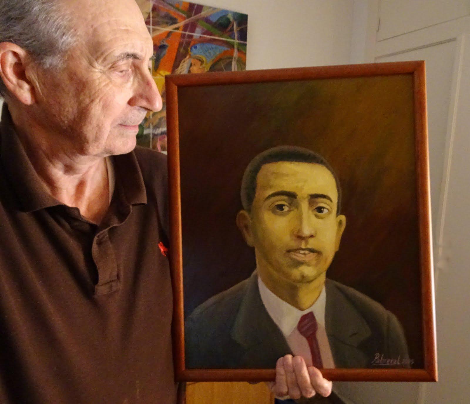 Retrato al óleo de Ramon Sijé
