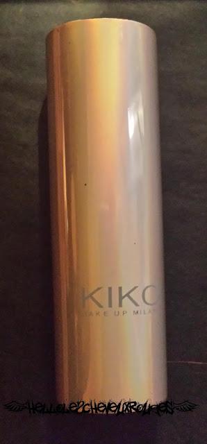 Packaging d'un rouge à lèvre nude de la marque Kiko Hellolescheveuxrouges