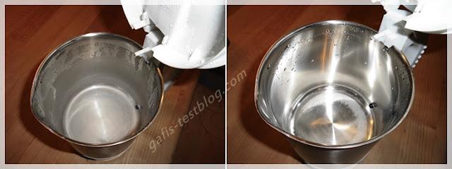 1. Wasserkocher verkalt und 2. nach  Benutzung der Wasseracht