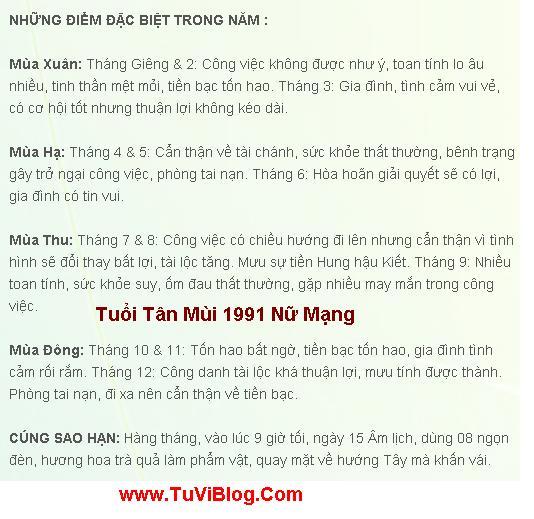 Tuoi Tan Mui 1991 Nam 2016