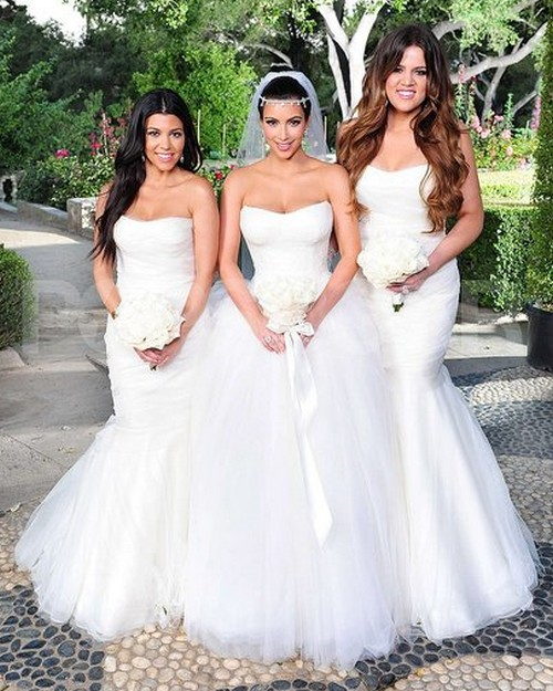 3 Wedding Dresses Kim Kardashian : Celebrity modeling kim kardashian wedding dresses album pics