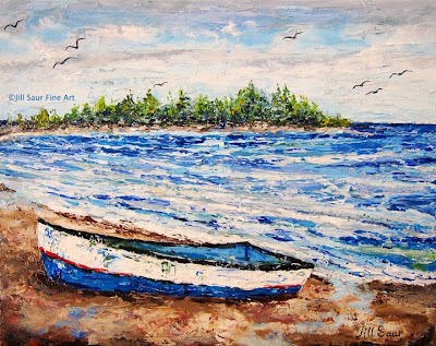 Cayman Beach, Beached Boat, Boat Art