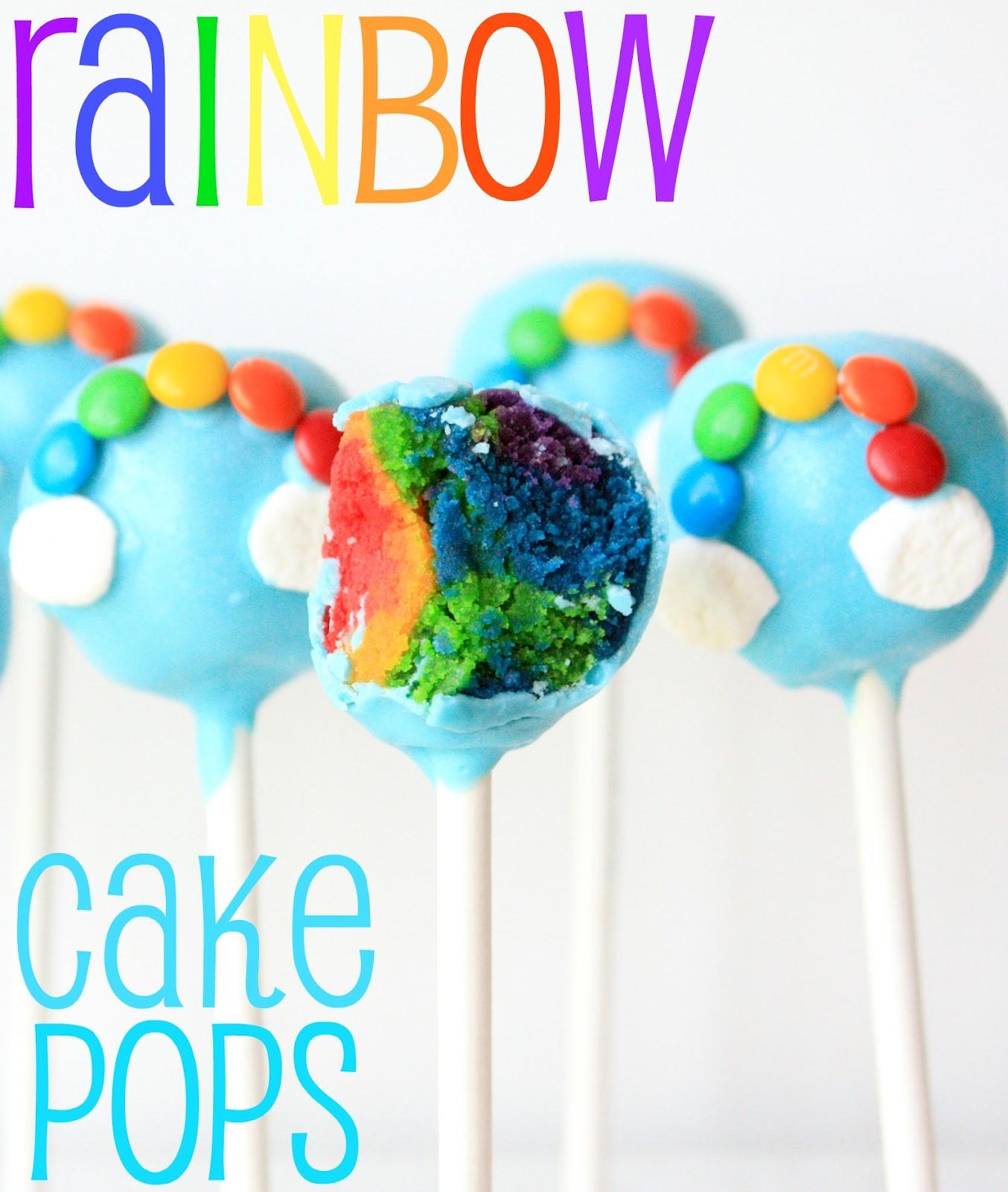 Munchkin munchies rainbow cake pops for Pop cake decoration