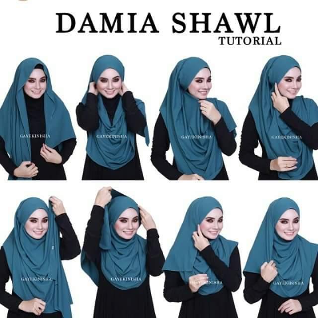 10 Cara Mudah Pakai Shawl, Tutorial Shawl