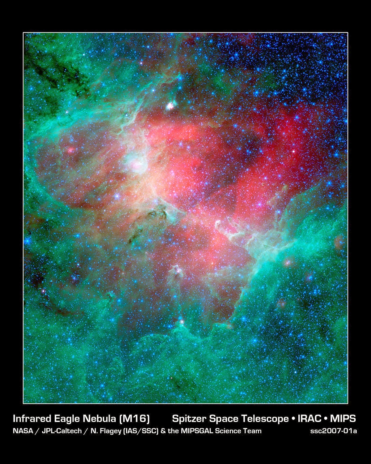Cosmic Epic Unfolds in Infrared: The Eagle Nebula