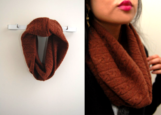 Как сделать из кофты шарф
