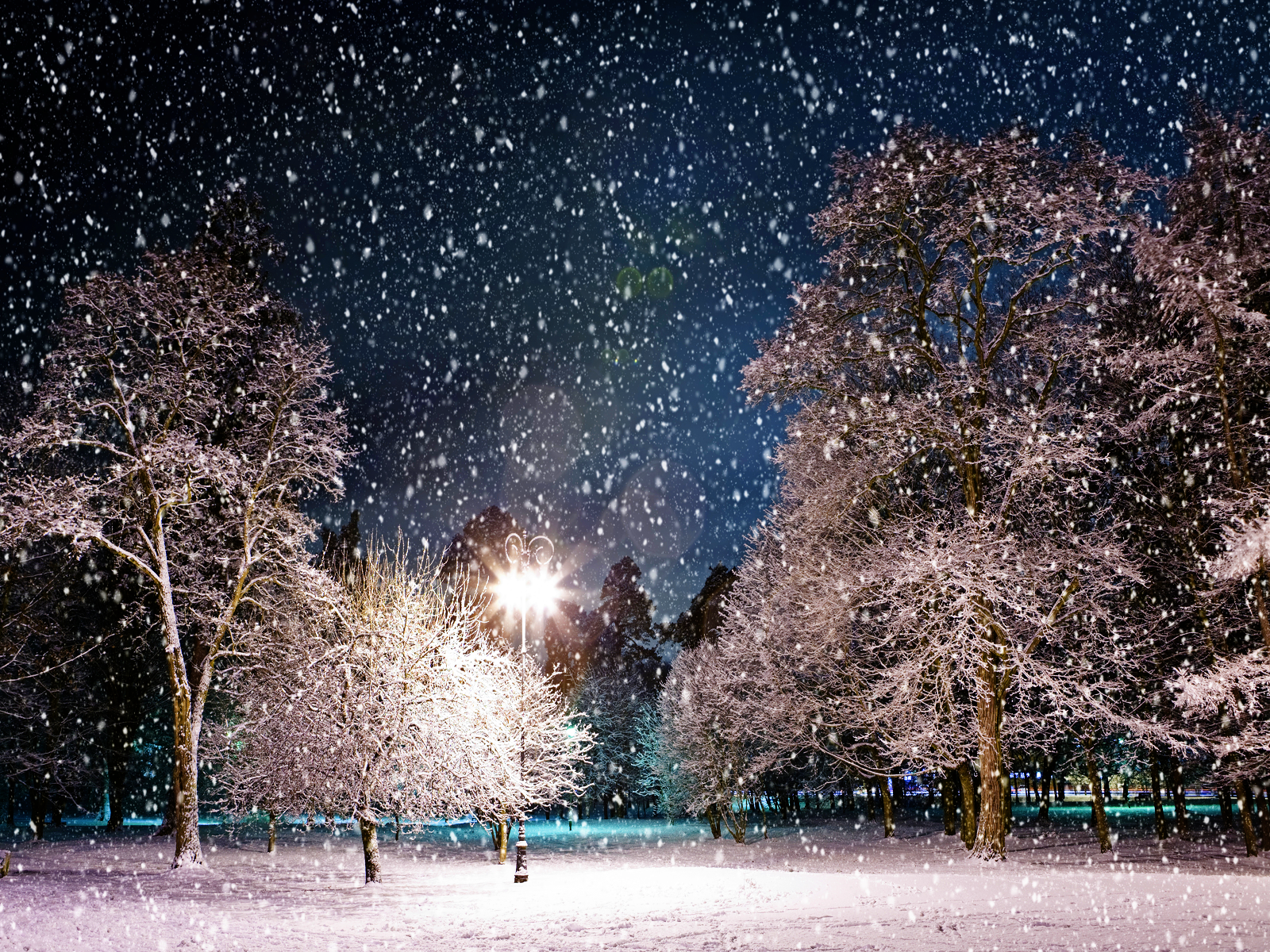 Snowy Night Background - HD Wallpapers Blog
